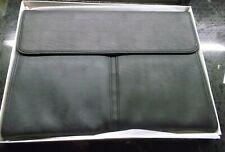 Business Briefcase Bag Messenger Laptop Leather Man's Pocket Black