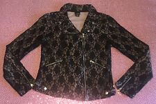 The Buckle daytrip Black Lace Zip Moto Jacket Blazer Fitted Womens Large