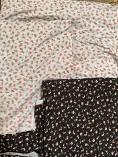 Remnants Knit Fabric Rayon Spandex Small Flowers Stretch Textile Sewing Colors
