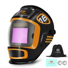 Large View Auto Darkening Tigmigarc Welding Helmet True Color Welder Mask Hood