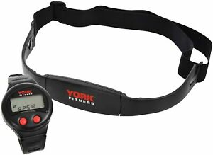 York Fitness Watch with Heart Rate Monitor Transmitter Chest Strap & Bike Mount