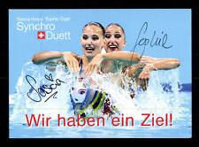 Sascia Kraus Sophie Giger Autogrammkarte Original Signiert Schwimmen+A 165701