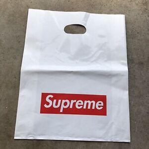 Supreme Shopping Bags Bundle 5PK Plastic Red Box Logo Medium 100% Authentic