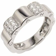 Auth CHANEL 18KWG Enhanced Diamond Profil De Camellia Ring EU54 US7 N428