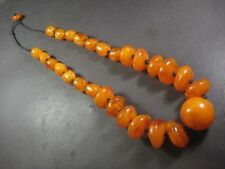 N5296 TIBETAN Bold FASHION Runway Amber Resin Beads Tribal Long Necklace Jewelry