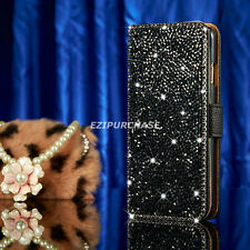 Luxury Bling Rhinestone Diamond Leather Case Flip Wallet Cover For iPhone S001