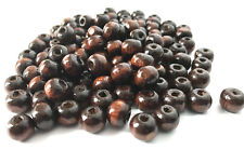 1000 pcs Brown Wood Beads 6mm X 8mm Bead Jewelry Making Wooden Tool Craft 4x