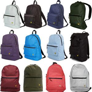 Lyle & Scott Backpack Rucksack Core School Backpacks Travel Gym Sports Bag Black