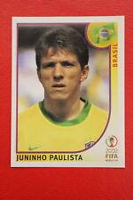 PANINI KOREA JAPAN 2002 # 181 BRASIL JUNINHO PAULISTA WITH BLACK BACK MINT!!!