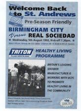 Birmingham City Home Team Pre-Season/Friendly Football Programmes
