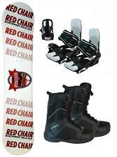 155cm Red Chair Pale Ale Rocker Snowboard+Symb Bindings+Boots 3pc Package jone4