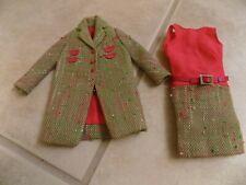 Vintage Barbie Tweedsomes Coat And Dress