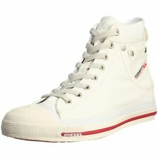 Diesel Exposure Hi off White Red Womens Canvas Trainers Shoes BOOTS 4 UK 37 EU