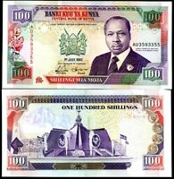 KENYA 100 SHILLINGS 1-7-1992 P 27 UNC