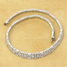 nyjewel bvlgari parentesi 18k w gold 8ct diamond pave choker necklace ori box
