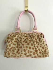 Hello Kitty Pink & Brown Spotted Faux leather Tote Handbag Purse
