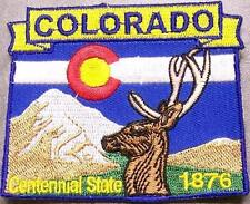Embroidered USA State Patch Colorado NEW montage