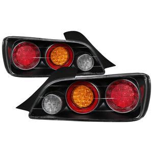 Fit Honda 00-03 S2000 Black LED Rear Tail Brake Lights Lamp Left & Right