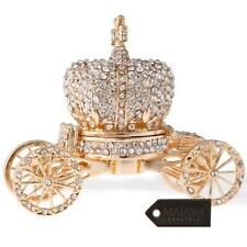 Matashi Hand Painted Royal Crown Carriage Ornament/Trinket Box