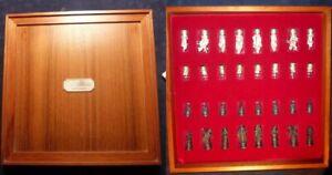 Royal Selangor Camelot König Arthur Skulpturen Figuren  Zinn Schach-Spiel rar !!