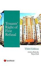 Tenants' Right of First Refusal by Clark, Wayne, Radevsky, Anthony, NEW Book, (H