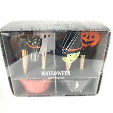 Williams Sonoma Meri Meri Halloween Cupcake Kit Witch Pumpkin Ghost Cat Nib