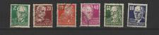 DDR ALLEMAGNE 1953 6 timbres oblitérés célébrités   /T3382