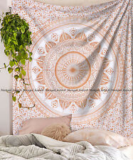 Indian ombre mandala large tapestry cotton wall hanging bohemian bedspread throw