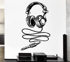 Wall Stickers Headphones Music Rock Pop Notes Art For Living Room (z2617)