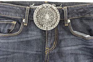 Men Women Belt Buckle Silver Color Metal Western Fashion Aztec Calendar Mayan
