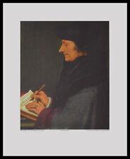 Hans Holbein Erasmus von Rotterdam Poster Bild Kunstdruck im Alu Rahmen 50x40cm