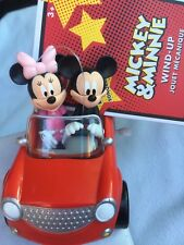 DISNEY MICKEY MOUSE CLUBHOUSE MICKEY & MINNIE CAR WIND UP TOY