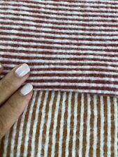 2 Piece Tubular Rib Brushed Fabric Knit High Low Stretch Pink Orange Remnants
