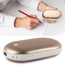 5000mAh Pocket Heater Hand Warmer Rechargeable Power Bank Charger Gold Un012