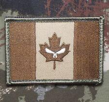 CANADA FLAG GLOW GITD PUNISHER JTF2 ARMY MULTICAM  VELCRO® BRAND FASTENER PATCH