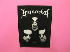 IMMORTAL BACK PATCH OFFICIAL 2008 NOT PIN SHIRT POSTER CD LP UK IMPORT SEW-ON