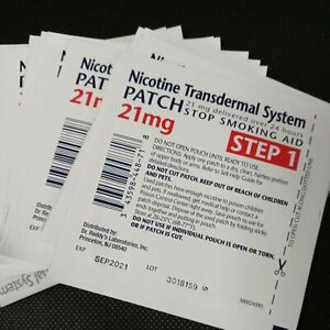 Nicotine Transdermal System Patches Step 1, 21mg 14 Patches Help Quit Smoking