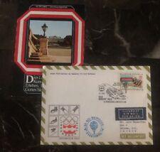 1975 Austria First Day Balloon Airmail Fdc Cover To Batawa Canada Postcard Enclo