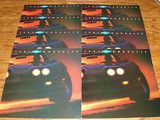 Original 1981 Chevrolet Corvette Foldout Sales Brochure Lot of 8 81 Chevy