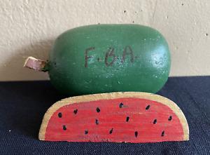 Iconic Felipe Benito Archuleta (F.B.A.) Sliced Wood Watermelon