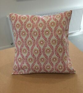 COLEFAX AND FOWLER  'SWIFT' CUSHION COVERS RED AND BEIGE