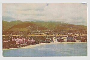 HAWAIIAN 820-HONOLULU -Waikiki from the Air