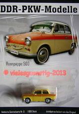 DDR-PKW Modell Trabant 500 gelb Nr. 6 Sammelserie DDR-PKW-Modelle