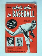 RARE 1974 Who's Who in Baseball  Angels Nolan Ryan Jackson Rose