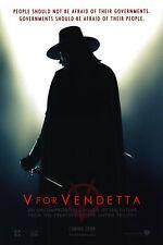 V for Vendetta RARE RECALLED Advance Original Movie Poster  Double Sided 27x40