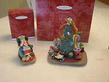 1997 Trimming Santa's Tree & Mrs Claus's Story Signature Piece QXC5175 & QXC4
