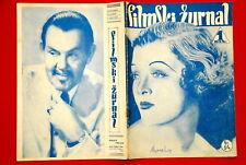 MYRNA LOY ON COVER SIDNEY TOLLER 1940 EXYU MAGAZINE