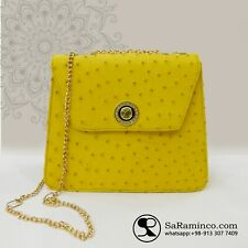 woman ostrich leather handbag made of 100% genuine ostrich leather skin