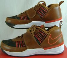 "New Mens 9.5 NIKE ""Zoom Revis TXT EXT"" Brown Orange Leather Hiking Shoes $140"