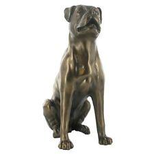 More details for boxer dog bronzed sculpture statue figurine